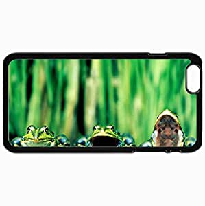 Personalized Protective Hardshell Back Hardcover For iPhone 6 Plus, Frog Design In Black Case Color
