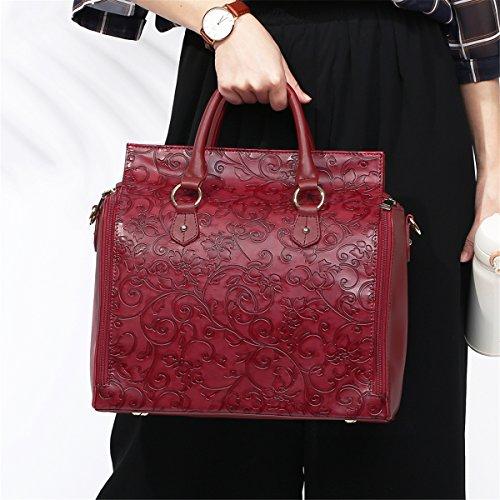 et cosmétique de papa de poche capacité Sac sac capacité Red voyage et grande pour sac à isolée main grande de femelle maman Brenice Z0gqw0