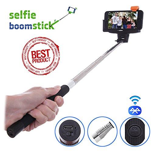 bluetooth selfie stick extendable handheld monopod camera stick free bonus built in remote. Black Bedroom Furniture Sets. Home Design Ideas