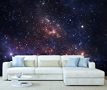 Stickerswall Space Universe Galaxy Planet Stars Wall Mural Photo Wallpaper Picture Self Adhesive 1065 342cm W X 242cm H