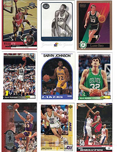 Basketball Hall of Fame / 25 Different Basketball Cards Featuring Icons such as Michael Jordan, Wilt Chamberlain, Larry Bird, Magic Johnson and more! All in the Hall of ()