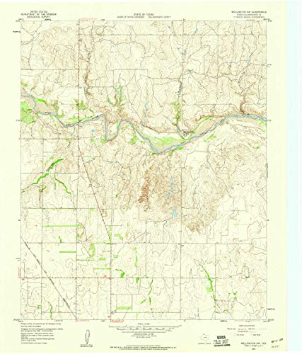- Wellington NW TX topo map, 1:24000 Scale, 7.5 X 7.5 Minute, Historical, 1959, Updated 1960, 26.9 x 23 in - Paper