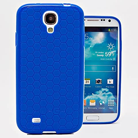 Hyperion Samsung Galaxy S4 Mini HoneyComb Matte Flexible TPU Case & Screen Protector (Cover Compatible with Samsung Galaxy S 4 Mini GT-i9190) **Hyperion Retail Packaging** [2 Year Warranty] (Cell Phone Cases Galaxy S 4 Mini)