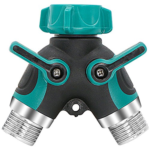 Amazon.com : Garden Hose Splitter, Rusee Metal 2 Way Y Ball Valve Hose  Connector With Comfortable Rubberized Grip U0026 Shut Off Valves For Home Lawn  Outdoor ...