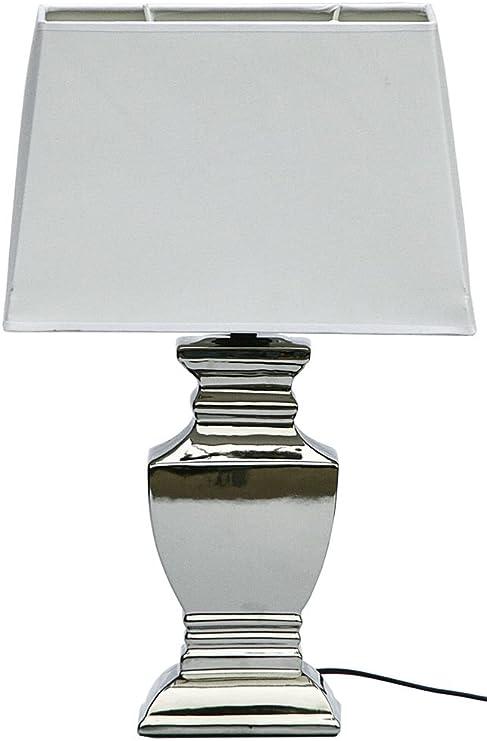 Lampada Da Comodino Argento.Druline Elsa Lampada Da Tavolo Shabby Chic Lampada Da Tavolo