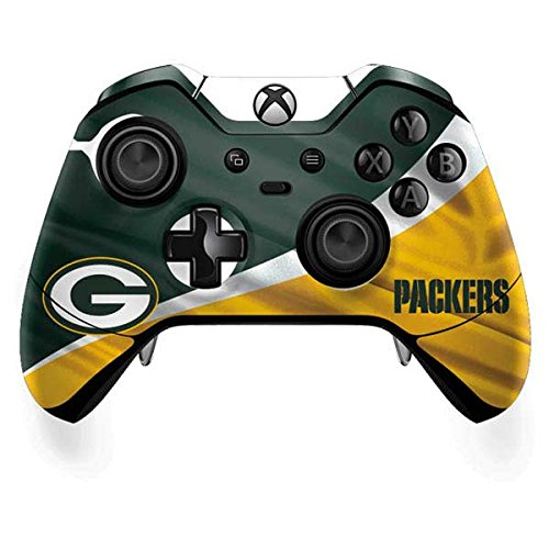 Skinit Green Bay Packers Xbox One Elite Controller Skin - Officially Licensed NFL Gaming Decal - Ultra Thin, Lightweight Vinyl Decal Protection