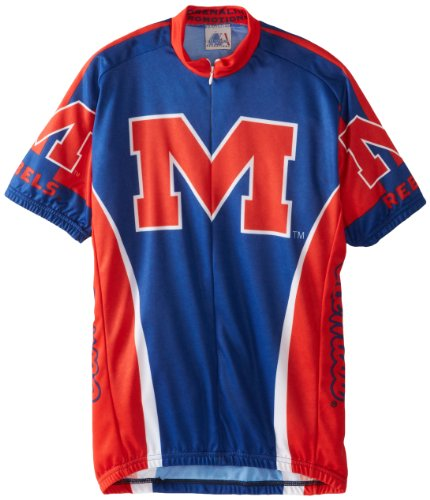 NCAA Cycling Jersey,Small (Mississippi Cycling Jersey)