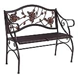 AHHC INC Classical Garden Bench Porch Chair Steel Frame