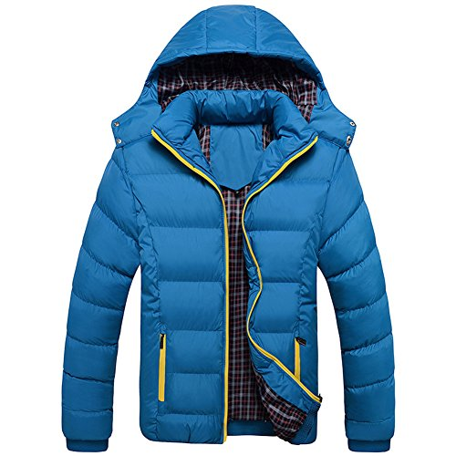 Short Warm Thick Blue Winter Coat ZongSen Parka Padded Detachable Hooded Mens Cai Outwear Jacket 8nYqFw