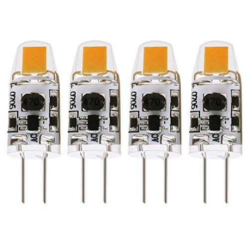 12v Ac 20w Halogen Bulb (Albrillo G4 LED Bulb Dimmable 1.5W, 20 Watt Halogen Bulbs Equivalent, AC DC 12V, Warm White, 4 Pack)