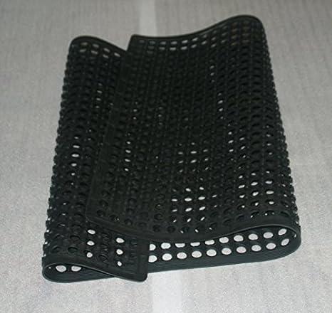 Guardian Platinum Series Indoor Wiper Floor Mat 2x2 Rubber with Nylon Carpet Black
