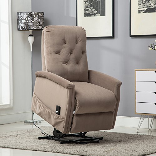 BONZY Power Lift Chair Tufted Recliners Living Room Electric Lifting/Reclining Chairs Furniture  ...