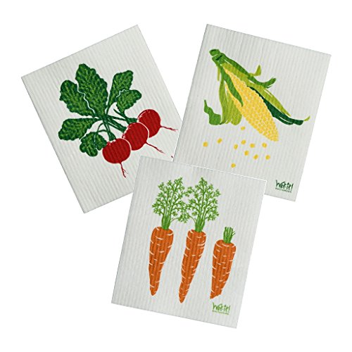 Swedish Treasures Wet-it, Set of 3! Cleaning Cloth, Works...