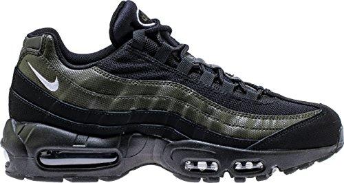 Nike Men's Air Max 95 Essential Fashion Sneakers (8), Black / White-sequoia (Nike Air Max 95 Black And White)