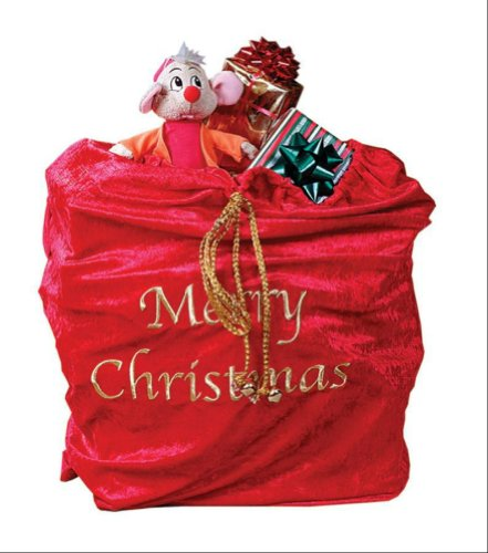 Dragonfly Man Costume - Fun World Costumes Santa Sack, Red/Gold, 30