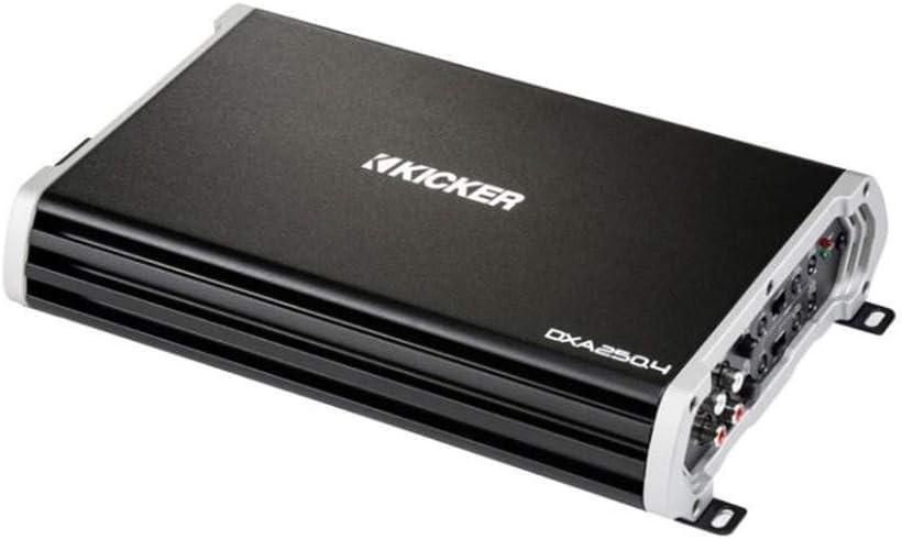 Kicker DXA 250.4 250 Watt Full Range 4 Channel Car Audio Amplifier | 43DXA2504