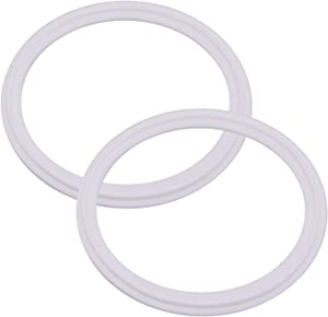 DERNORD PTFE (Teflon) Tri-Clamp Gasket O-Ring - 3 Inch Style Fits OD 91MM Sanitary Pipe Weld Ferrule (Pack of 2)