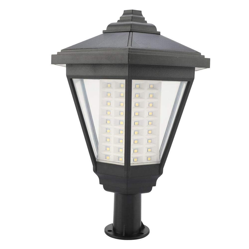 Famus 2 Piezas Jard/ín al Aire Libre LED Caminos de energ/ía Solar Luz citada L/ámpara de Paisaje Poste C/ésped