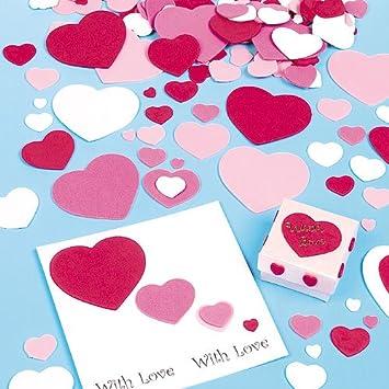 Schön Selbstklebende Herzen Aus Schaumstoff Für Kinder Zum Basteln   Für Karten  Zum Valentinstag Und Muttertag (