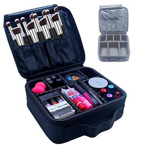 Samtour Professional Makeup Train Case Cosmetic Bag Organize