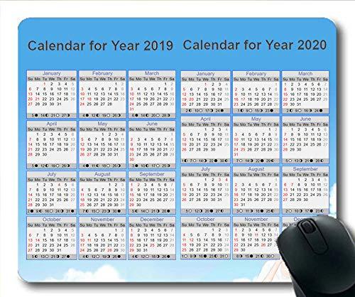 Yanteng 2019 Alfombrilla de ratón con Calendario ...