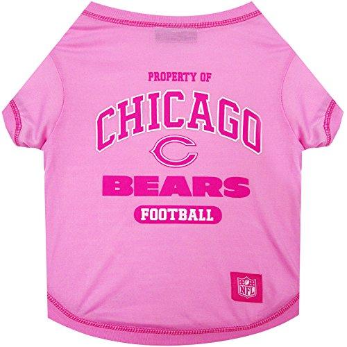 Pets First Chicago Bears Pink T-Shirt, (Pink Chicago Bears Shirt)