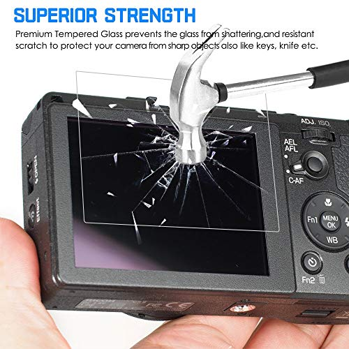 AFUNTA Screen Protectors Compatible GR II 2 Pack Anti-Scratch Tempered Glass Protective Films for DSLR Digital Camera