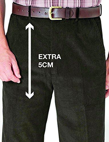 46 Velours Pantalon 79cm À 62 Uk Inch Taille Haute En X Vert eu Régulier Homme Côtelé Pour 31 nqIvqrZ