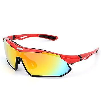 Spohife Sports Lunettes de soleil, protection UV 400Lunettes de sport avec lentille Rveo pour homme et femme–Cyclisme Ski Pêche w1gqECwnYC, bleu