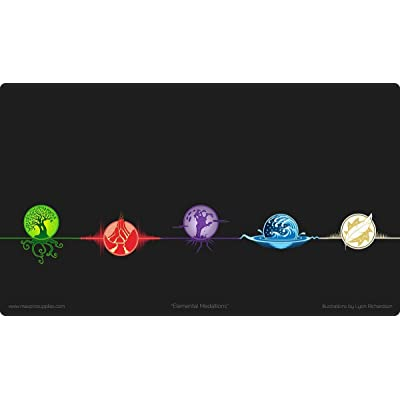 MAX PRO 1 Playmat Featuring ALL 5 ICONIC ELEMENTAL Symbols for MTG Mana: Toys & Games