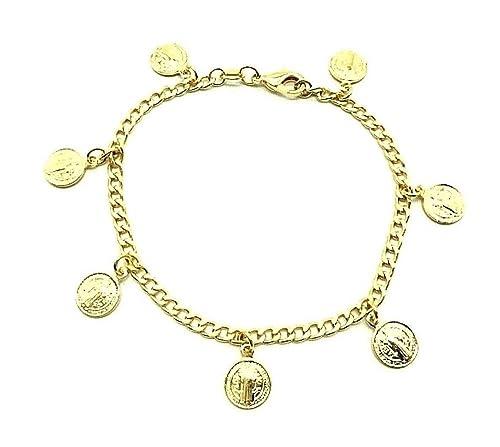 Amazon.com: LUXURYGOLD 18K GOLD PLATED SAINT BENEDICT ...