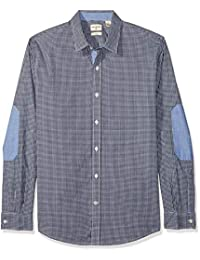 Dockers 55749-0000 - Pembroke, Slim Elbow Patch, Casual Sportshirt, Color Med Gingham, Talla Mediano