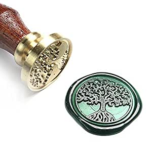 UNIQOOO Arts & Crafts Tree of Life Wax Seal Stamp-Great for Embellishment of Envelopes, Invitations, Wine Packages, etc-Exceptional Gift Idea for Artistic Types and Everyone Else In Between