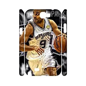 Custom 3D Hard Protective Plastic Case for Samsung Galaxy Note 2 N7100 - Tony Parker CM78L2131