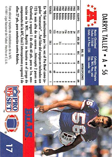 Amazon.com: 1991 Pro Set Spanish Football #17 Darryl Talley ...