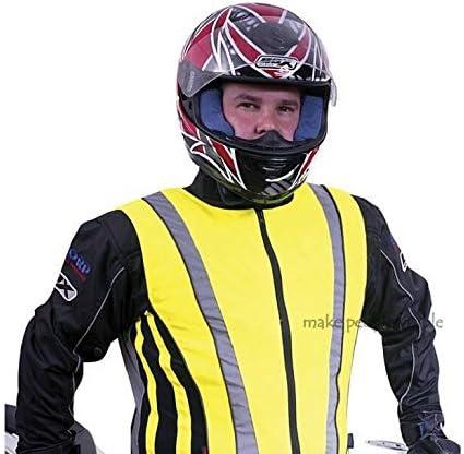 Tofern Outdoors Salzmann High Visibility Unisex Reflective Vest for Motorcycle, Cycling and Running, High Viz 3M Scotchlite Bike Vest