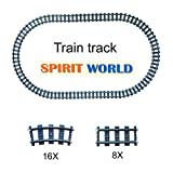 24X City Railroad Train Tracks Non-Powered Rail Compatible With Lego Building Block Toy Gifts