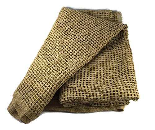 C4T Industries Military Sniper Veil - Tactical Camouflage Scrim Net Face Scarf Wrap - 100% Cotton - 48