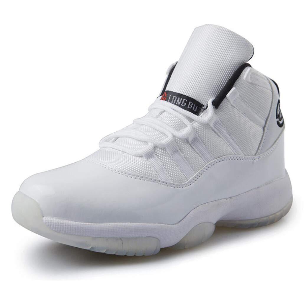 Unbekannt Männer Basketball Schuh PU Herbst Winter Sportschuhe, Outdoor Leichte Laufschuhe, Verschleißfeste Niedrig-Top Turnschuhe Stiefel