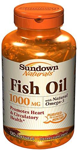 Sundown Naturals Dietary Supplement Fish Oil 1000mg - 144 CT