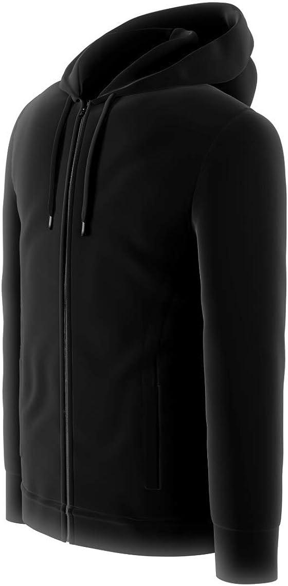 Comfort 360° - Men's Premium Sweatshirt Full-Zip Active Fleece Hoodie with Zipper Pockets