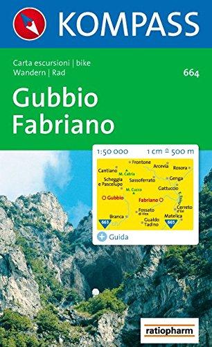 Kompass Karten, Gubbio, Fabriano (KOMPASS-Wanderkarten, Band 664)