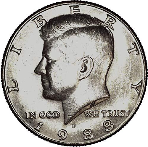 Gem Ms63 - 1988 D Kennedy Half Dollar 50C About Uncirculated