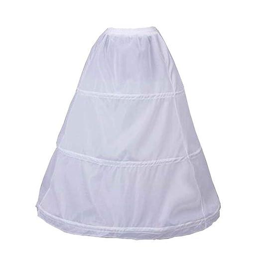 Enaguas para mujer, 3 aros, cintura elástica, sin hilo, falda de ...