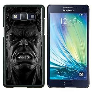 Qstar Arte & diseño plástico duro Fundas Cover Cubre Hard Case Cover para Samsung Galaxy A5 A5000 (B & W Hul Monster)