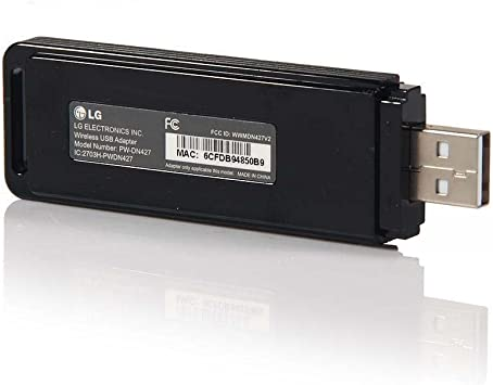LG WIRELESS WIFI LAN PW-DN427 USB ADAPTER LHB326 BD640 PWDN427 IC 2703H