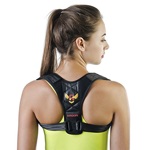 Posture Corrector for Women Men - Back Brace| Effective and Comfortable Adjustable Back Brace for Posture - Posture Brace - Clavicle Brace - Upper Back Pain Relief - Posture Support - Posture trainer by DROOfit