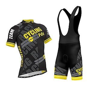 51NEuLCRzIL. SS300 Set da ciclismo professionale con maglia a mezza manica e salopette con pantalone imbottito in gel 3D, di FDX