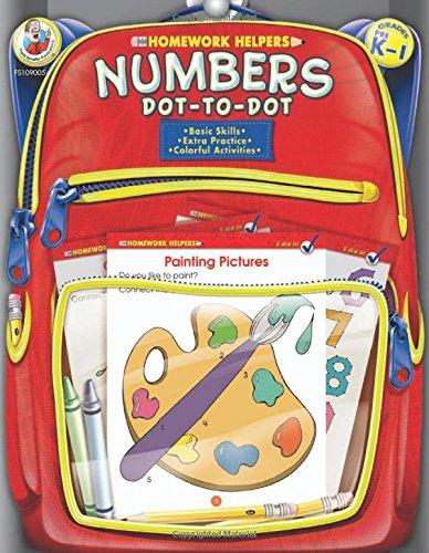 Numbers Dot-to-Dot Homework Helpers, Grades PreK to 1