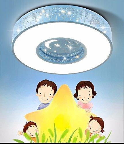 Unbekannt Set Tischlampe-Kinderzimmer Deckenleuchte LED-Leuchten Schlafzimmer Lampe warm minimalistischen kreative Lampe,60-poliges Nicht-Polaritäts-Dimmen der blauen Box